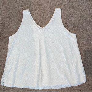 Eyeshadow plus size sleeveless lace Top 3X